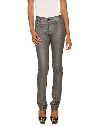 Jean DL1961 slim enduit gris