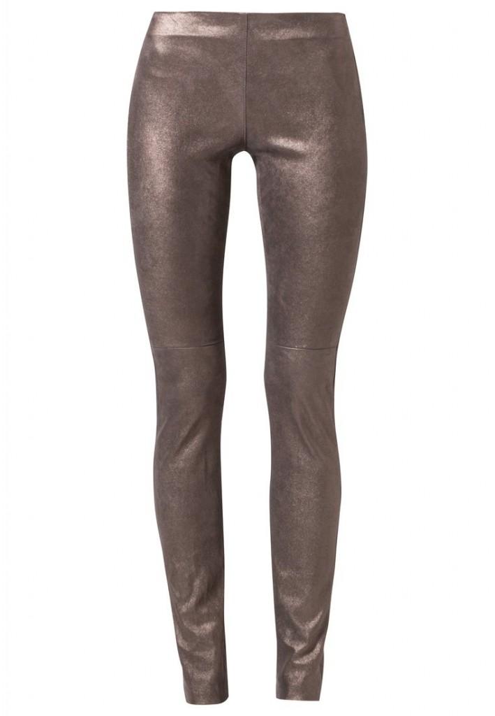 Pantalon en cuir argent Ventcouvert