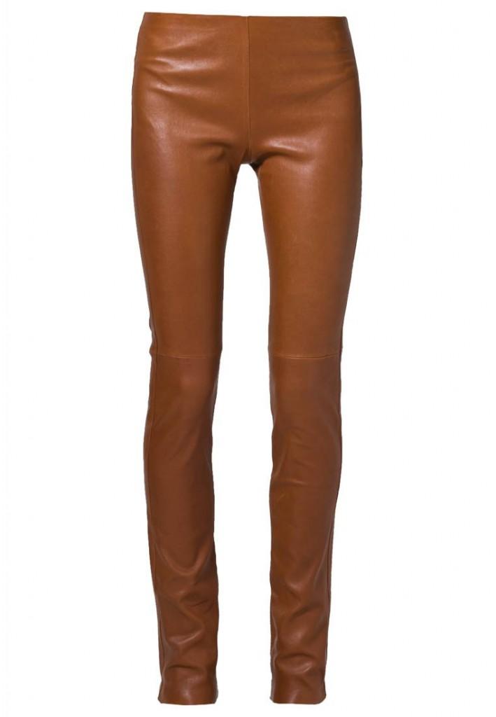 Pantalon en cuir camel Ventcouvert