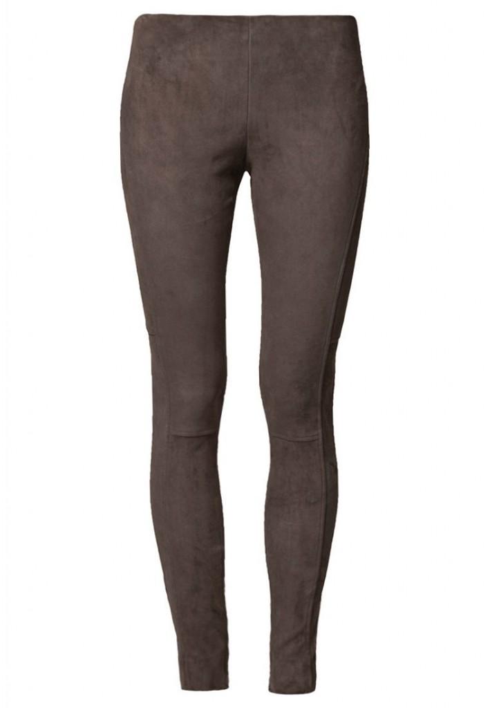 Pantalon en cuir gris Ralph Lauren
