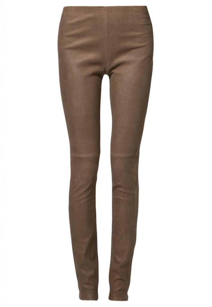 Pantalon en cuir marron Ventcouvert