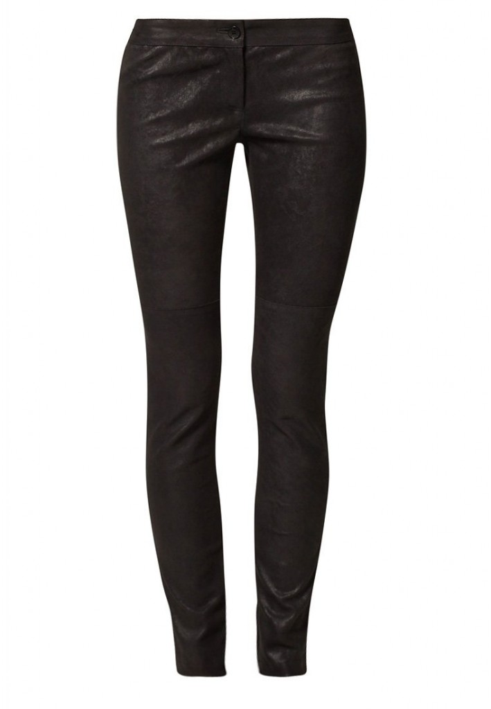 Pantalon en cuir noir Patrizia Pepe