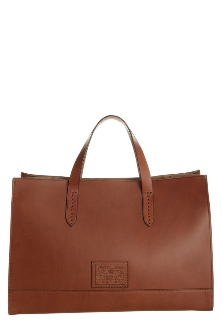 Sac a main marron camel Ralph Lauren