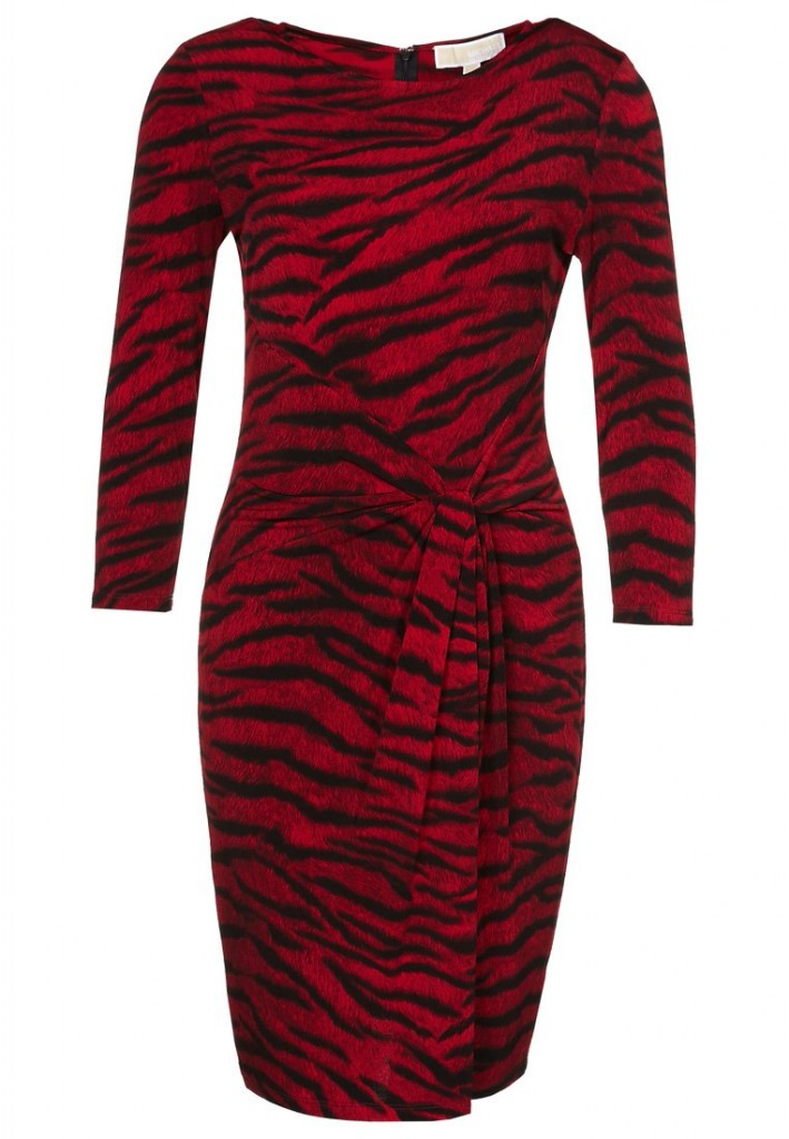 Robe zèbre rouge Michael Kors
