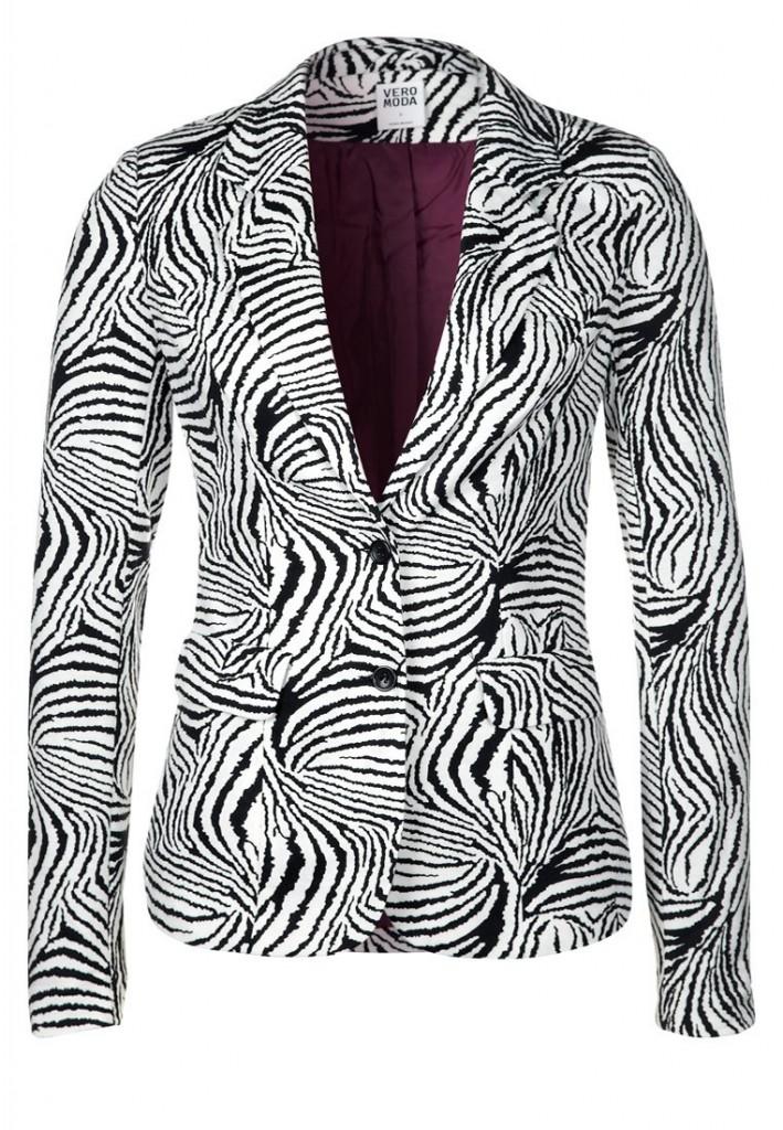 Veste blazer imprimé zèbre Vero Moda