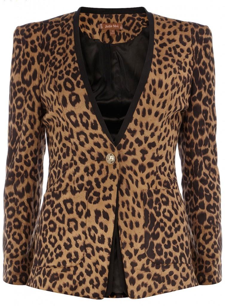 Veste blazer imprimé léopard