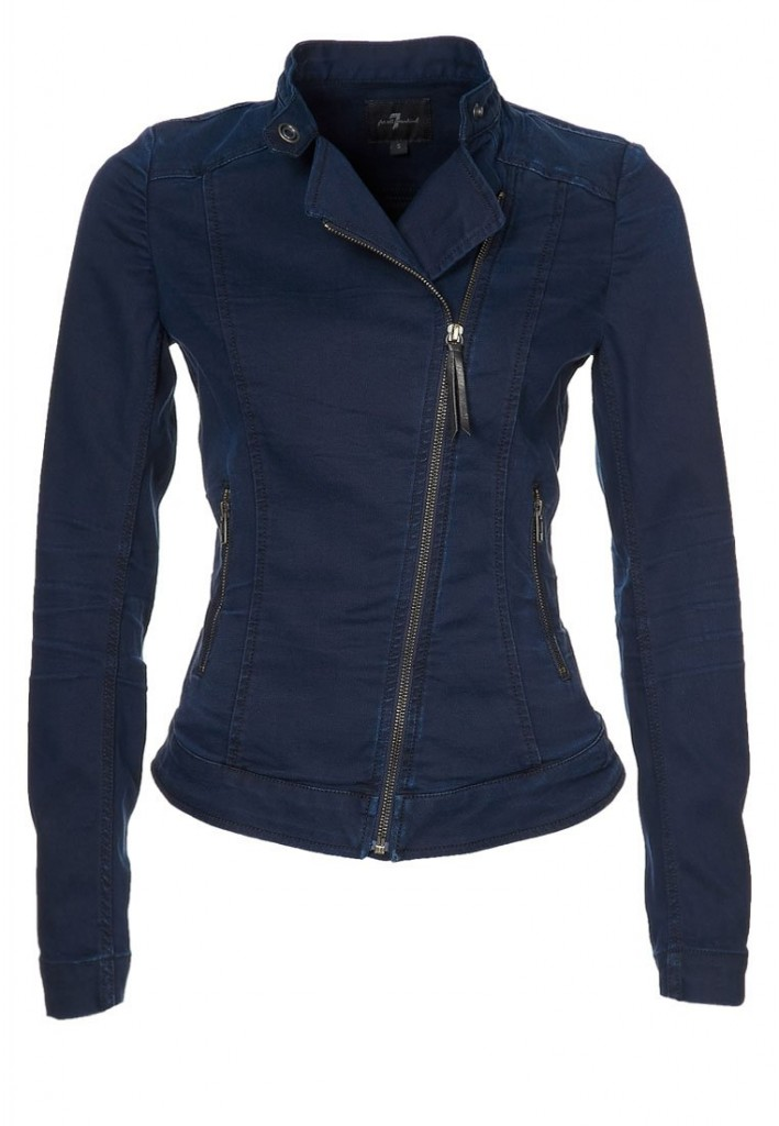 Veste en jean biker 7 For All Mankind