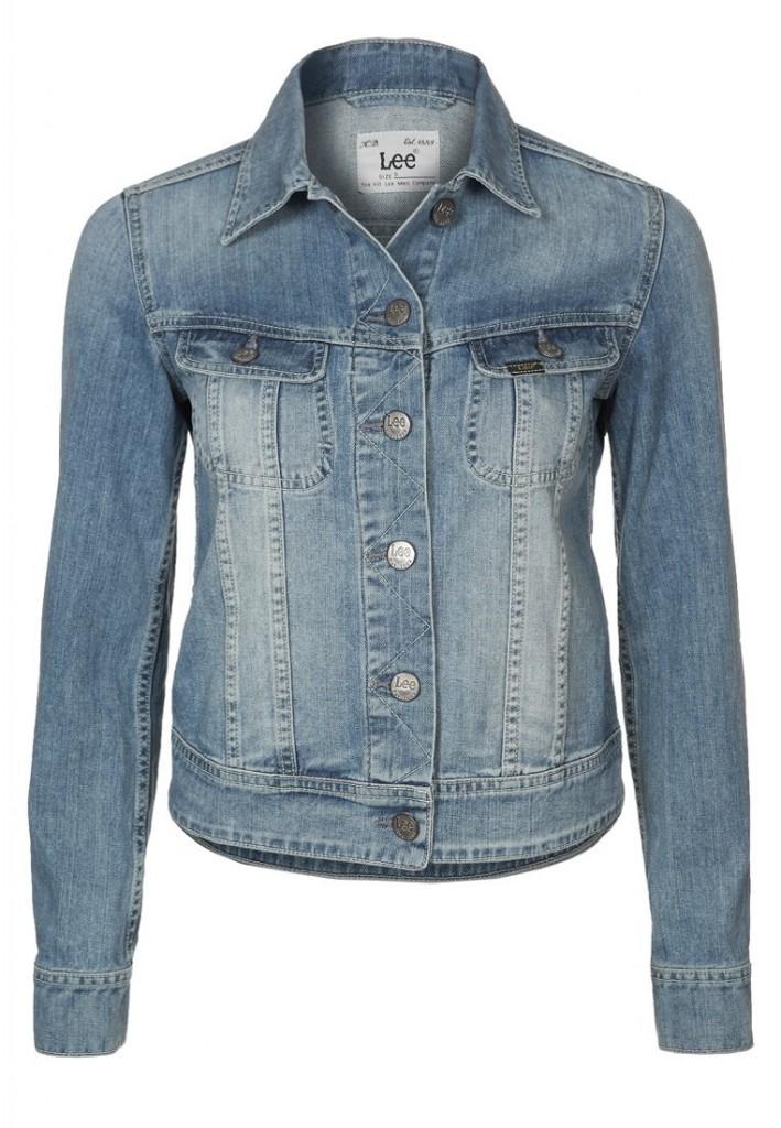 Veste en jean bleu clair délavé Lee