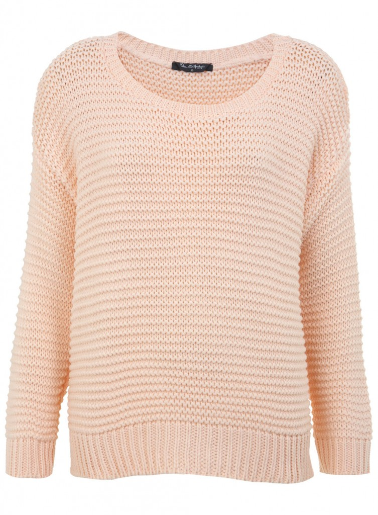 Pull maille rose clair pastel