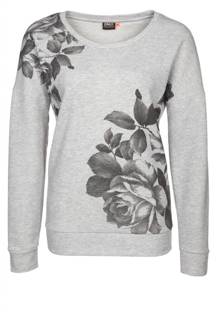 Sweatshirt only motifs fleurs