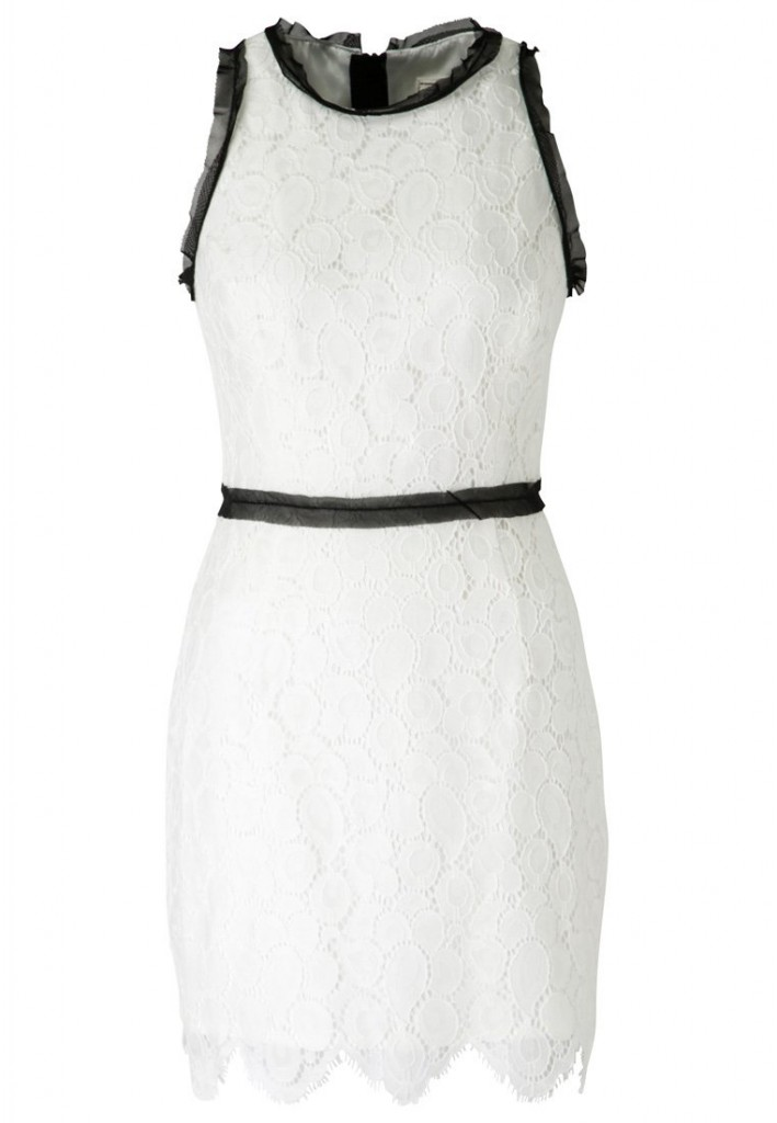 Robe luxe Milly noir et blanc