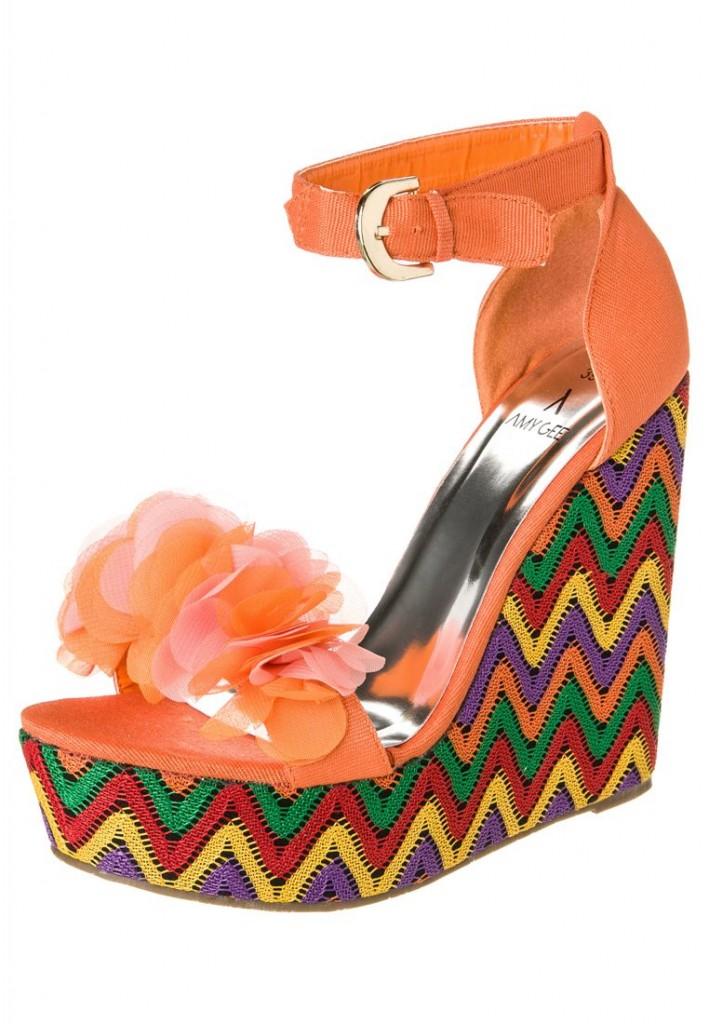 Sandales Amy Gee compensées