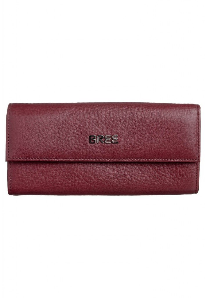 Portefeuille cuir rouge Bree