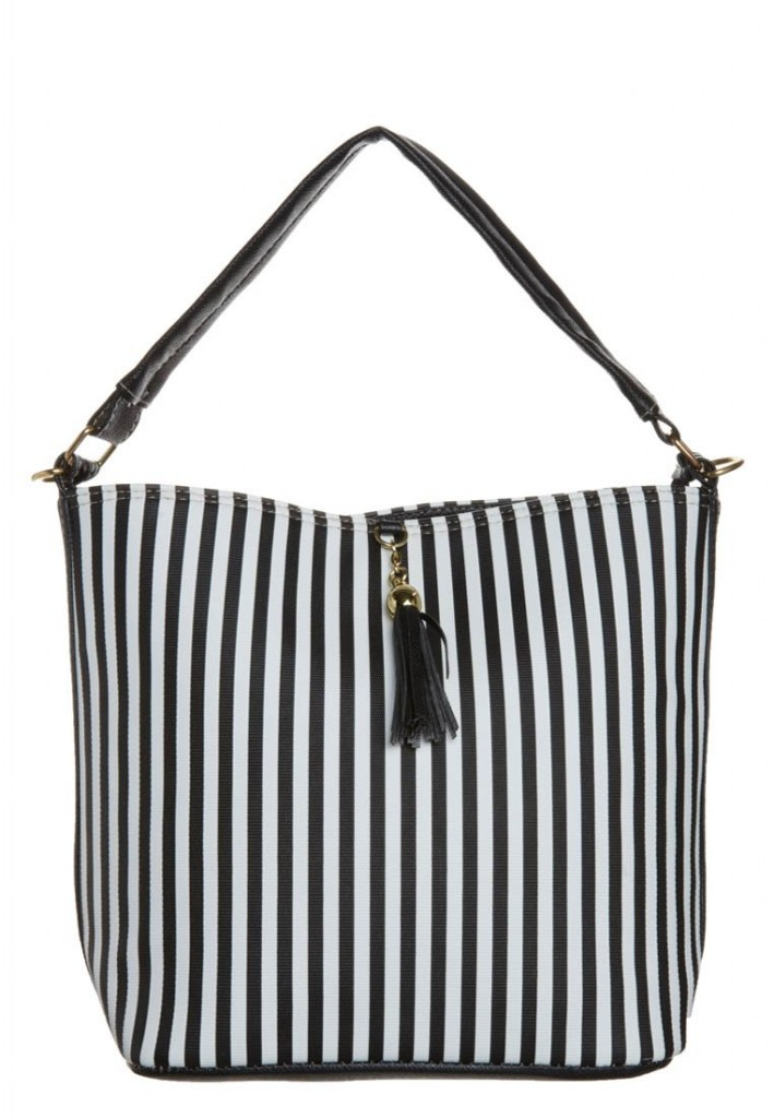 Sac a main rayrues noir blanc
