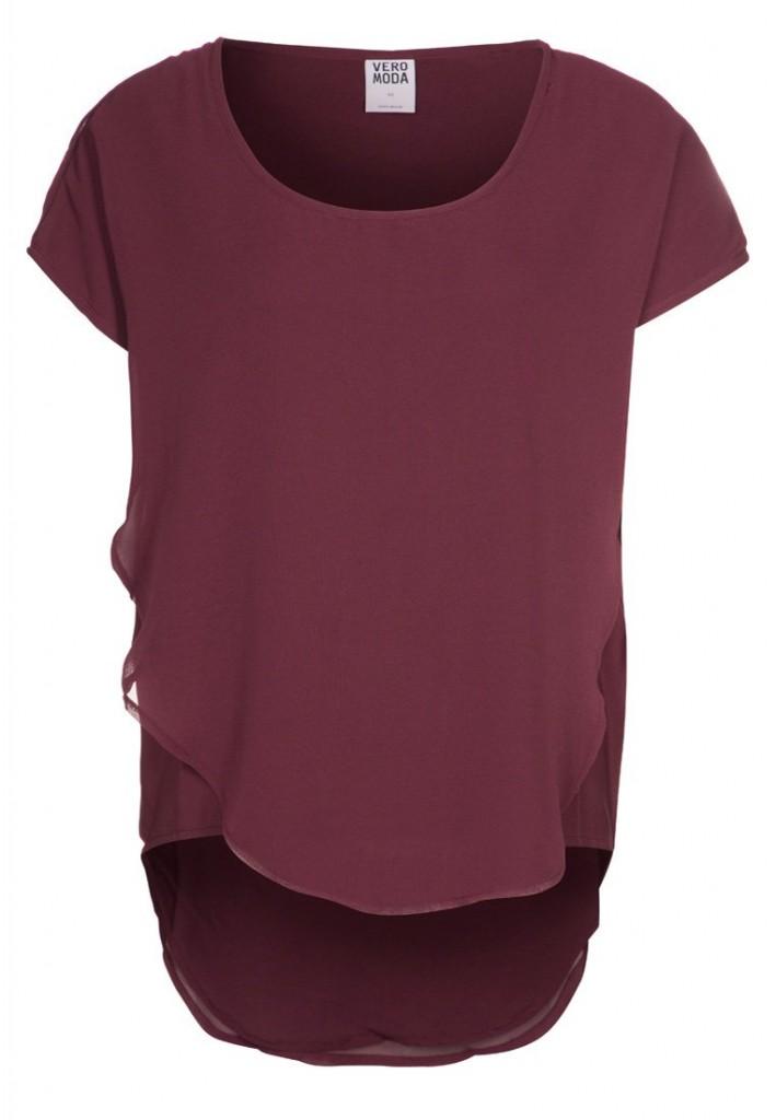 T shirt rouge Vero Moda