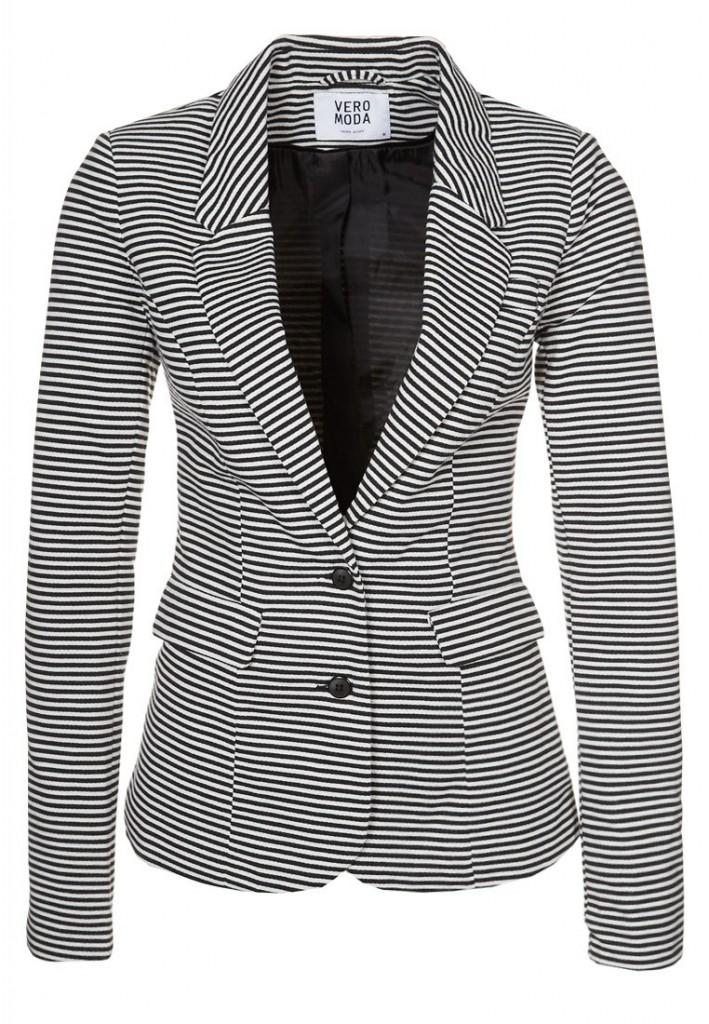 Veste blazer Vero moda rayures noir blanc