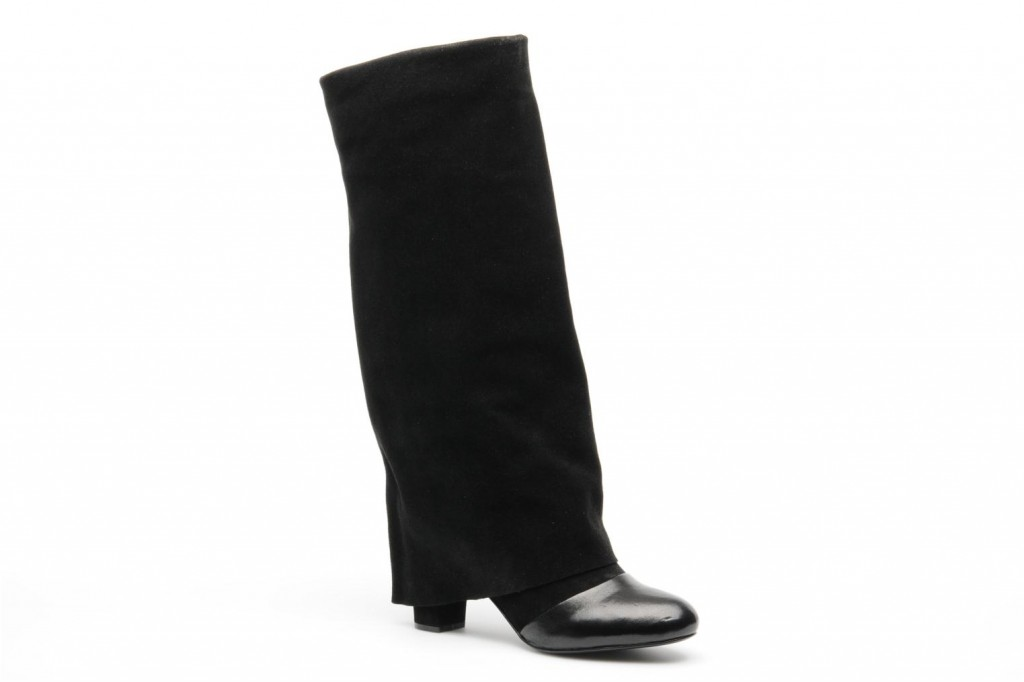 Bottes cuir noir larges See By Chloe
