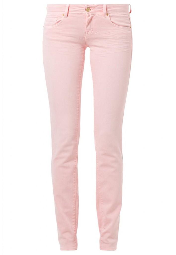 Jeans slim rose poudré Cimarron