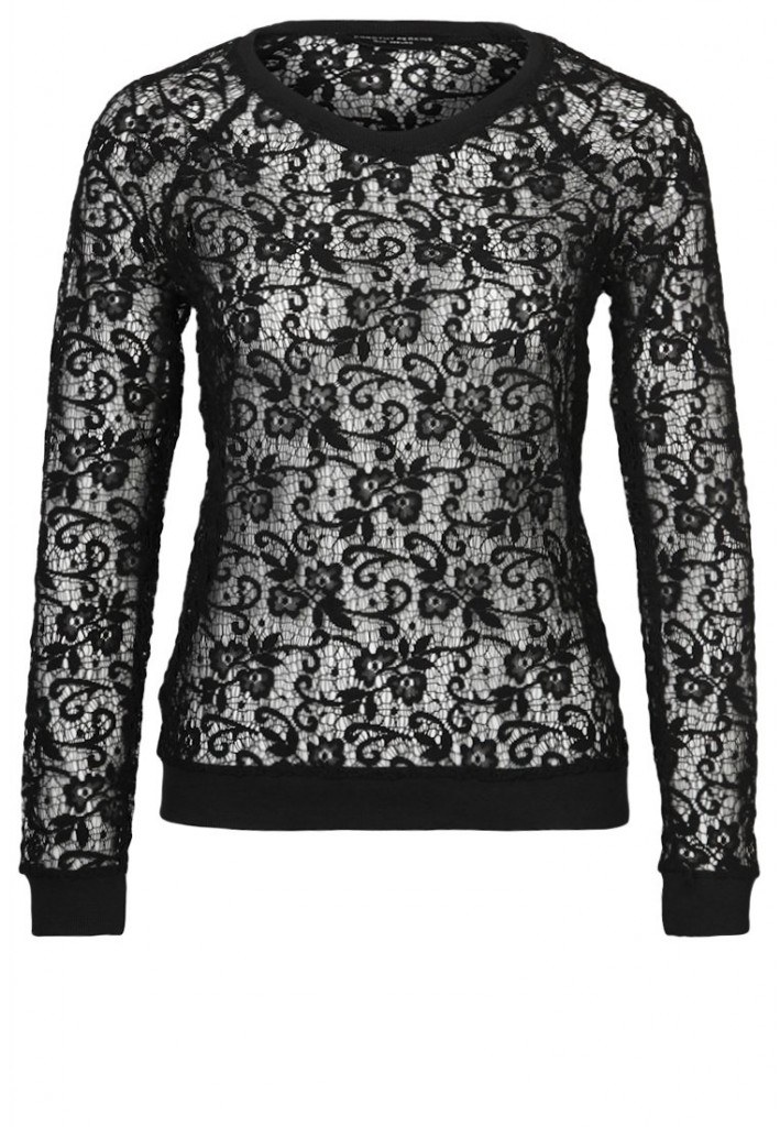 Pullover dentelle noir 2014