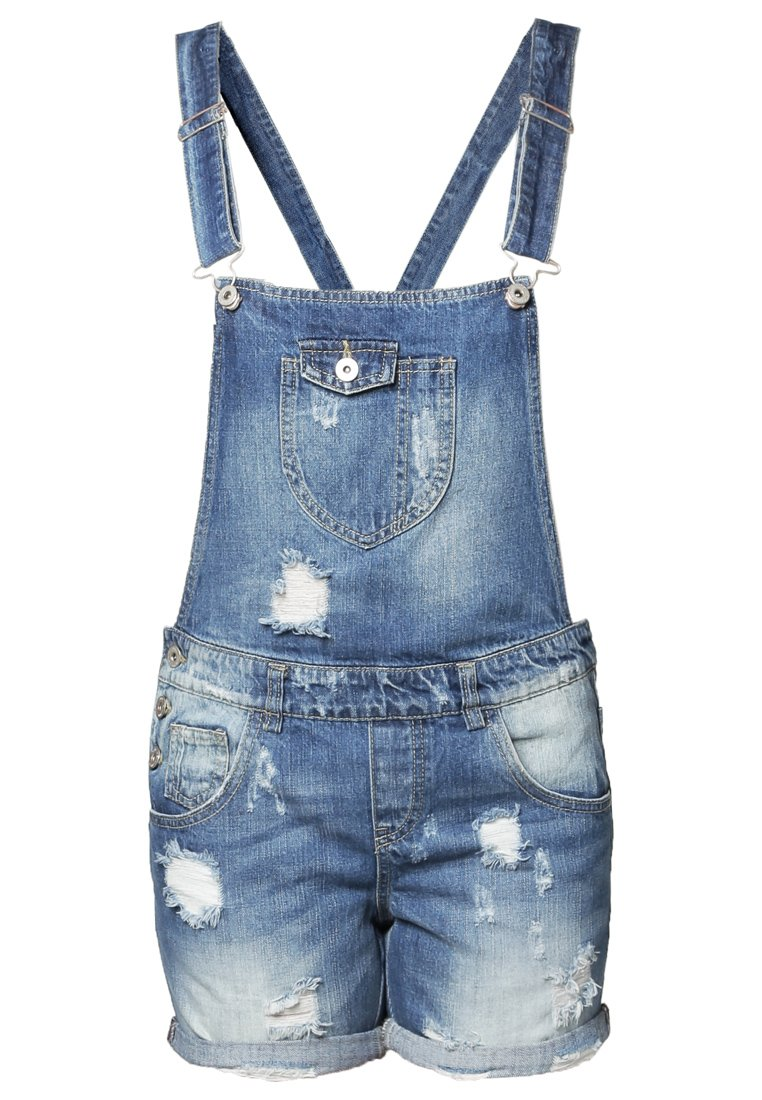 Salopette short en jean clair Only