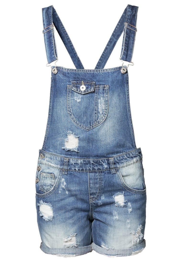 Salopette short en jean clair Only