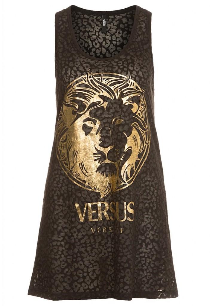 Top noir Versus Versace