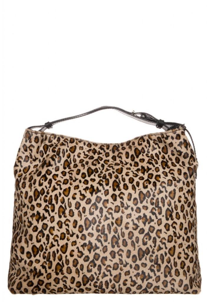 Cabas en cuir omprime leopard Abro