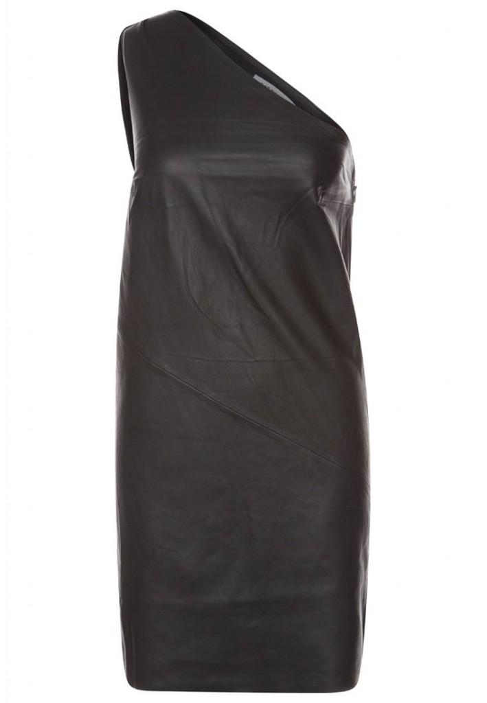 Robe en cuir noir Gat Rimon