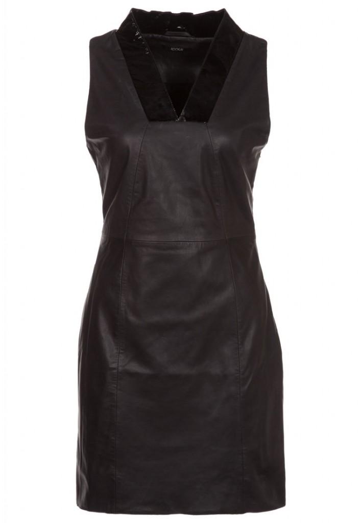 Robe en cuir noir Kookai