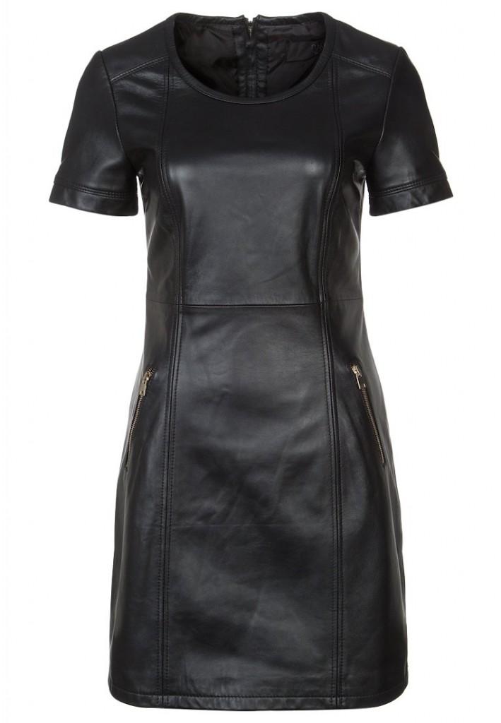 Robe en cuir noir Oakwood