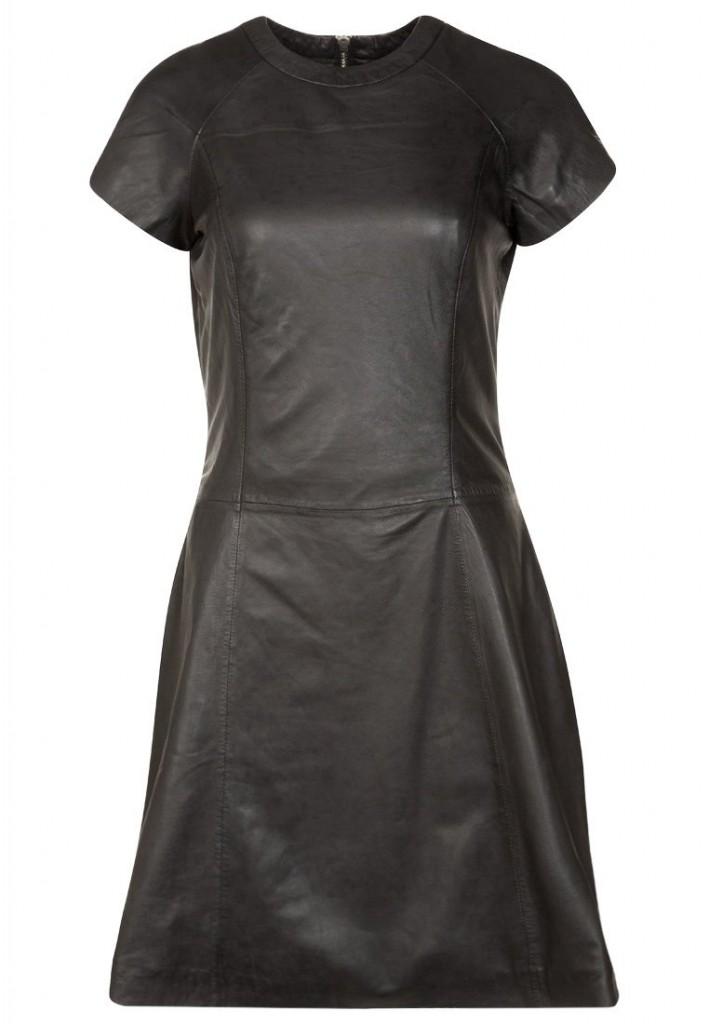 Robe en cuir noir Sly