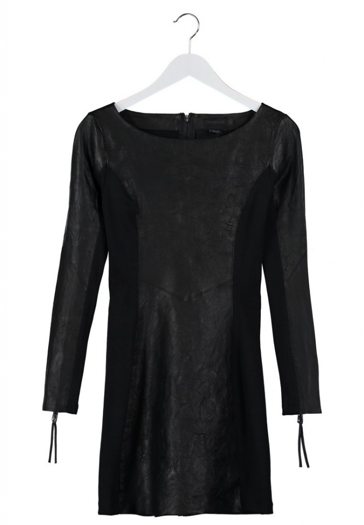 Robe en cuir noir Tiger of Sweden