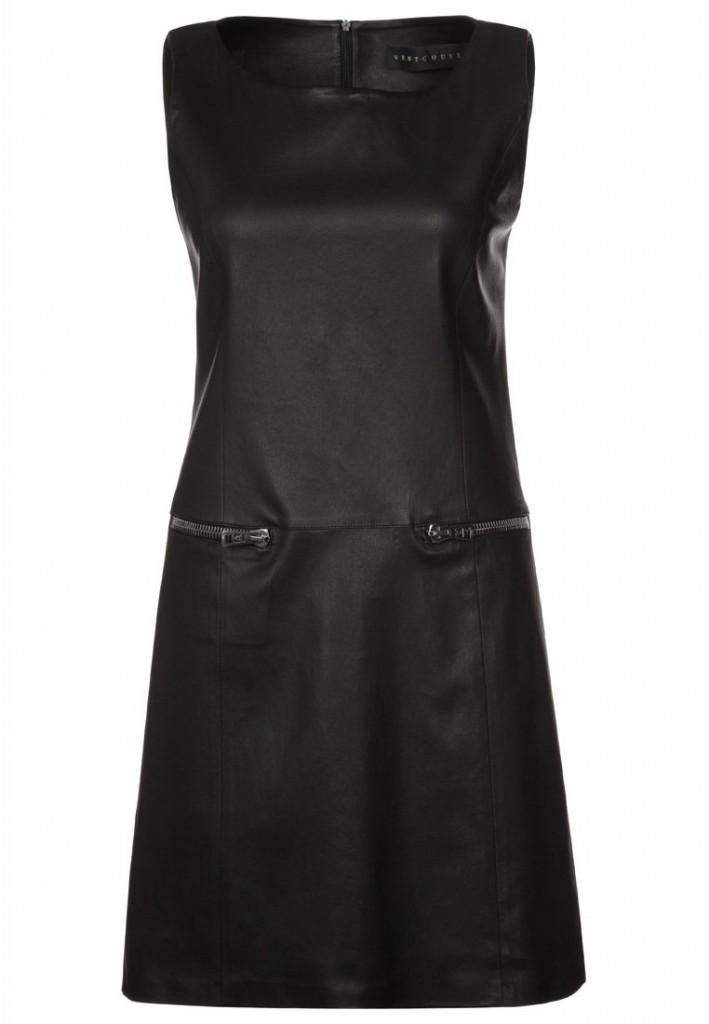 Robe en cuir noir Ventcouvert