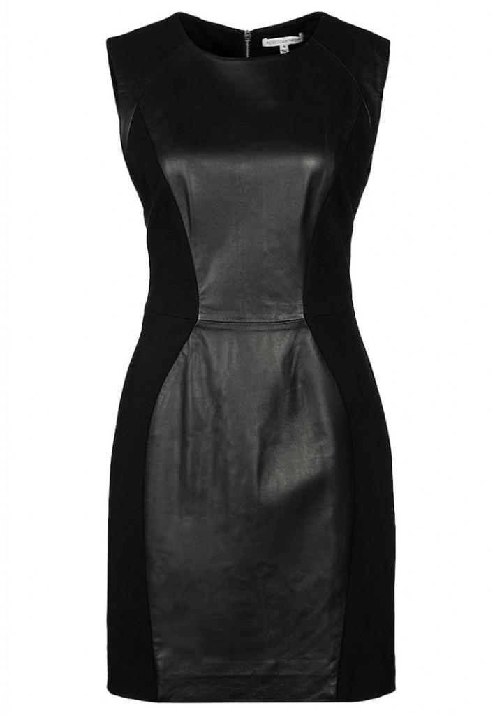 Robe en cuir noire Rebecca Minkoff