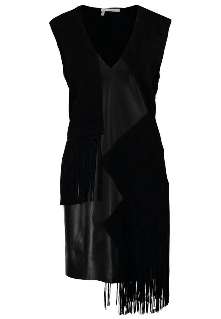 Robe noire cuir Derek Lam 10 Crosby