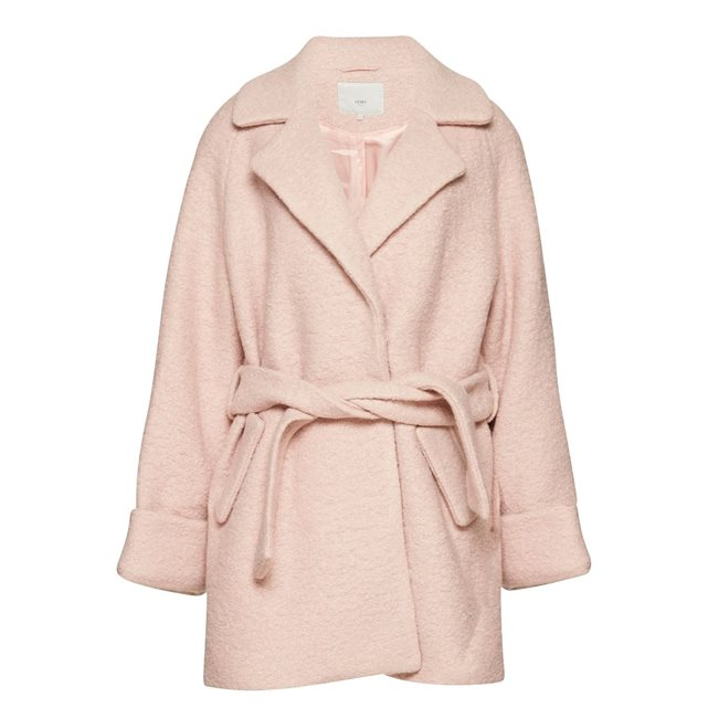 Manteau col blazer rose pastel Ichi
