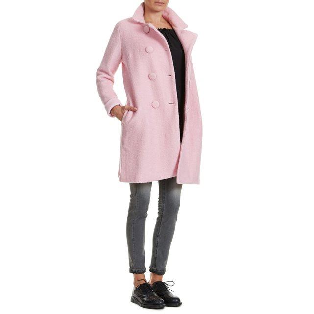 Manteau rose Brigitte Bardot