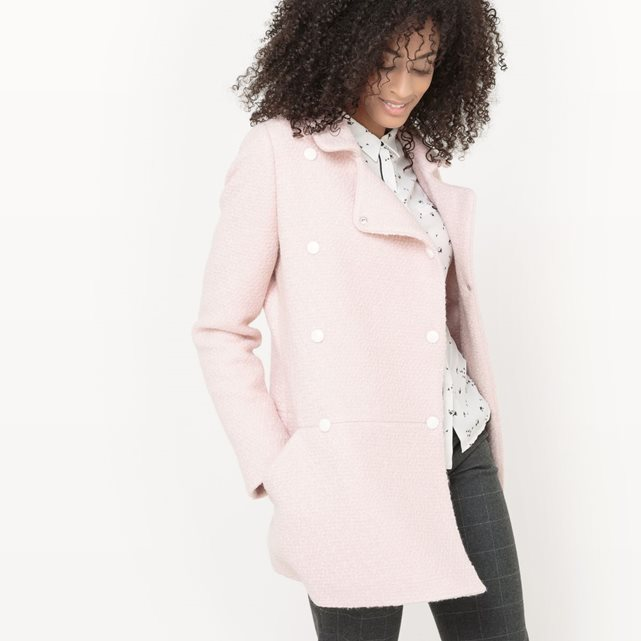 Manteau rose pastel