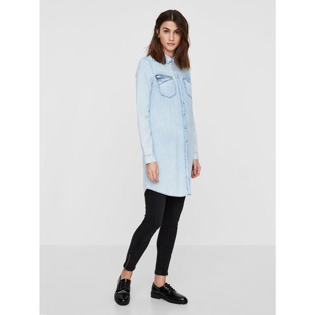 Chemise longue en jean Vero Moda