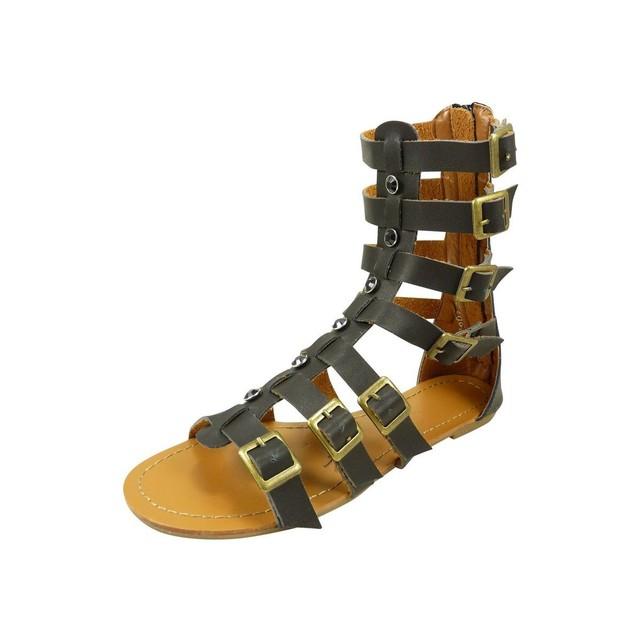 Sandales spartiates noires Chaussmaro