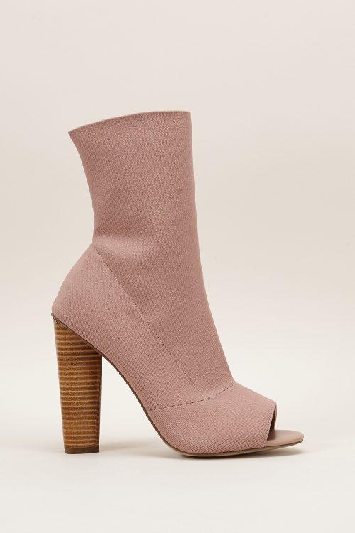 Sandales à talons rose nude Steve Madden
