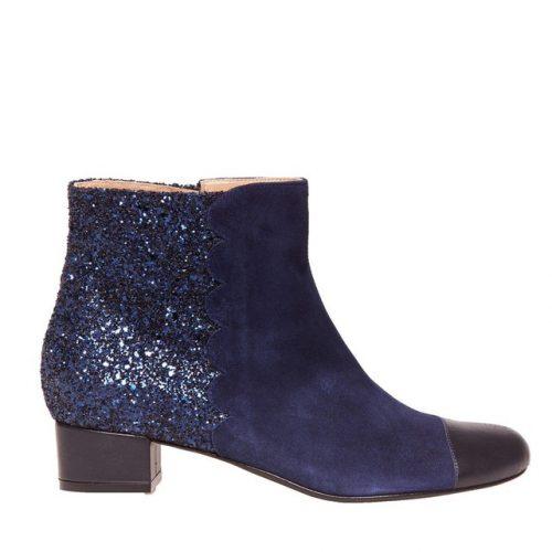 Boots glitter bleu Le Soulier Francais