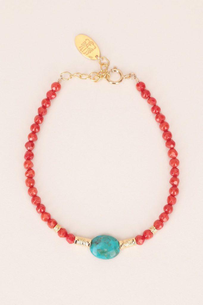 Bracelet agate turquoise Elise Tsikis Paris