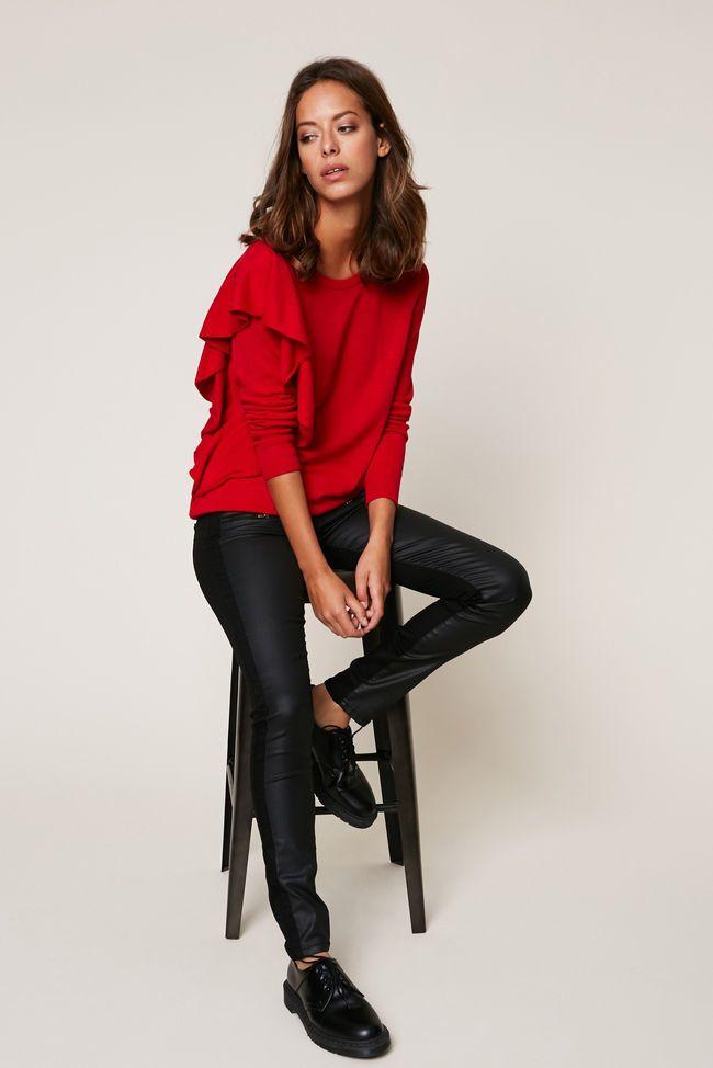 Pantalon noir jean et enduit Ikks Women