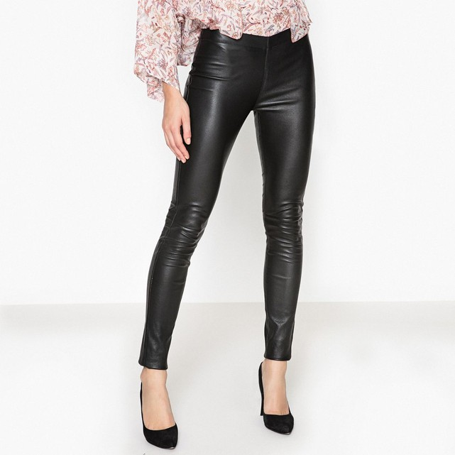 Pantalon slim en cuir Oakwood