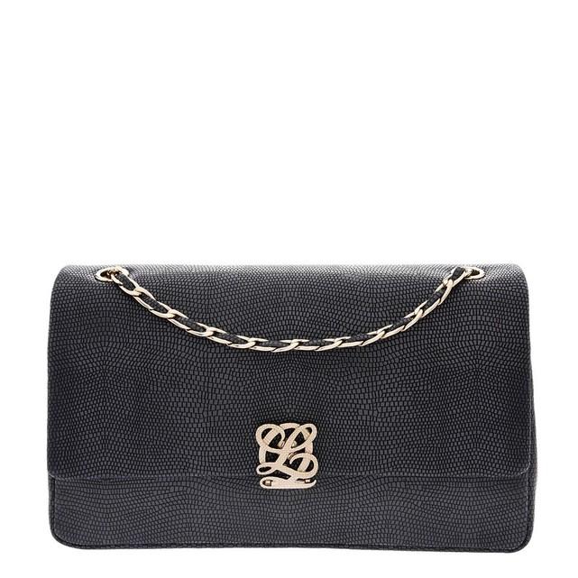Pochette sac bandouliere noir femme Louis Quatorze