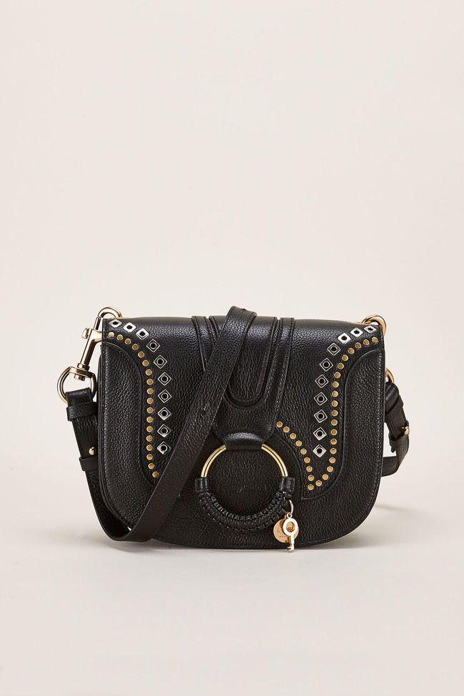 Sac bandouliere femme cuir noir See By Chloe