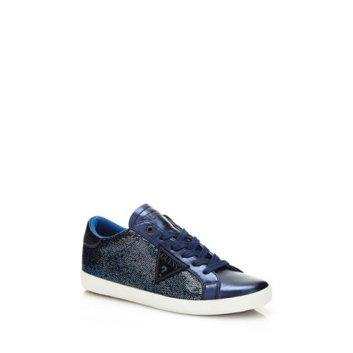 Sneakers paillettes bleues Guess