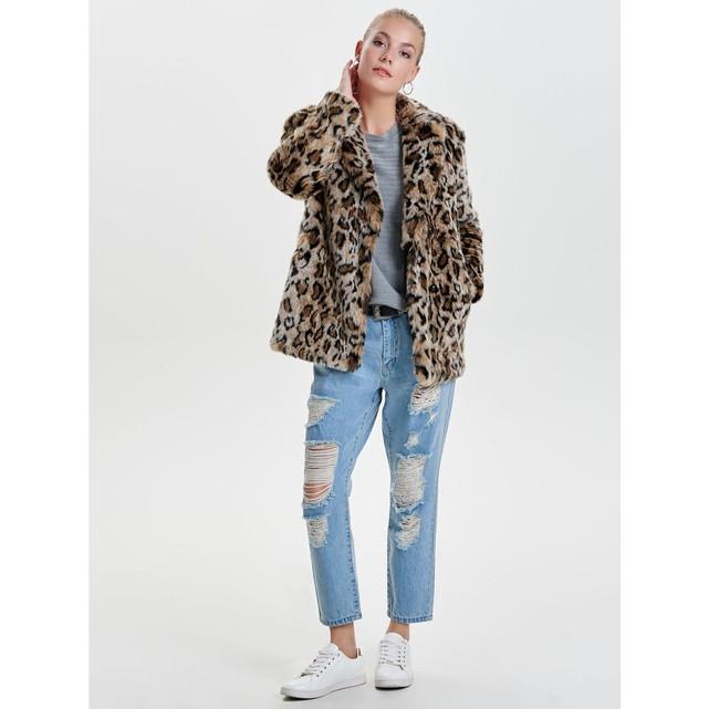 Manteau fausse fourrure leopard Only