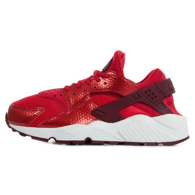 Baskets Nike Huarache femme rouge